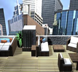 Tetőterasz látványterve