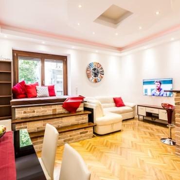 Belvárosi lakás teljes körű felújítása, berendezése